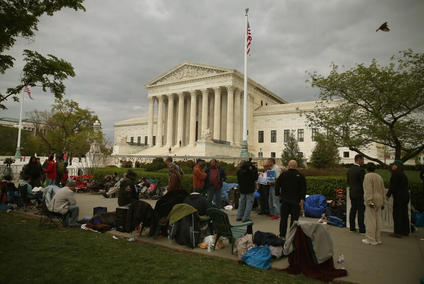 Currently, the only way to hear Supreme Court arguments in real time is to attend a hearing in person.