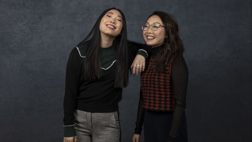 PARK CITY, UTAH -- JANUARY 26, 2019 -- Actor Awkwafina and director/writer Lulu Wang, from the film,