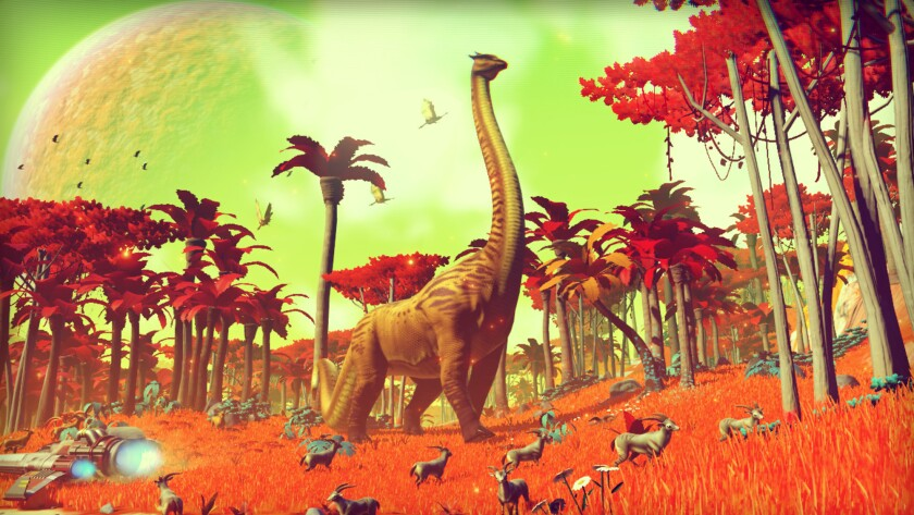 "A scene from ""No Man's Sky."""