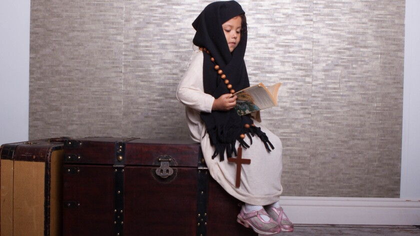 When Denise Florez's daughter, Nicte-Ha, turned 5, she dressed her as five important Latinas, including Sor Juana Ines de la Cruz, a Mexican writer and nun.