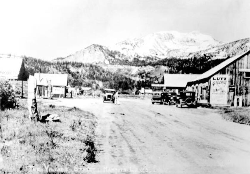 Early picture of Mammoth Lakes