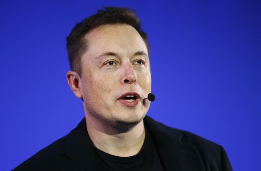 "Tesla Motors CEO Elon Musk, shown in December, tweeted on Sunday, ""Working on Top Secret Tesla Masterplan, Part 2. Hoping to publish later this week."""