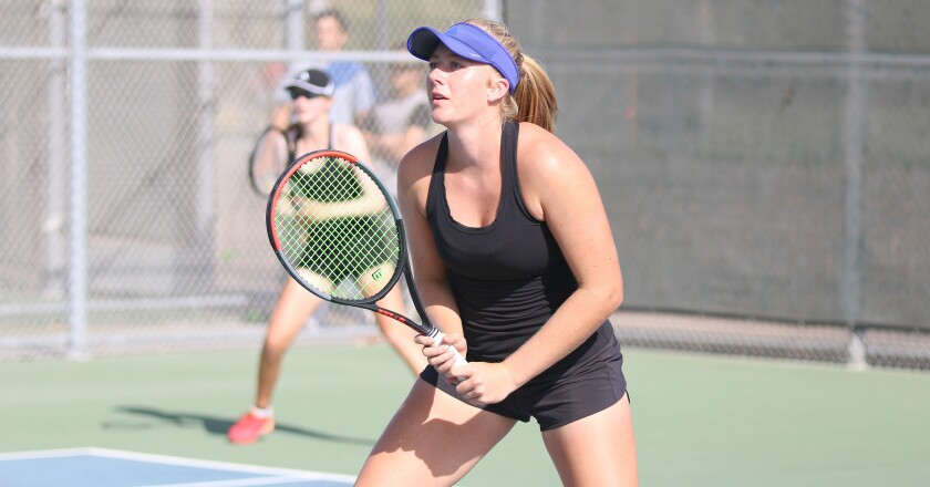 CCA senior Emily Fowler is a defending CIF doubles champion.