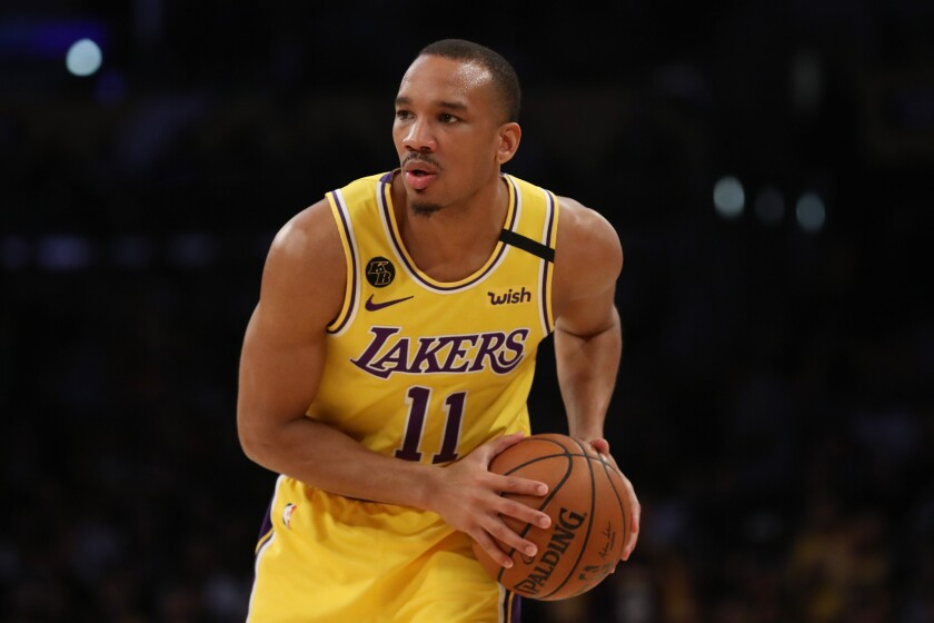 Avery Bradley made a season-best six three-pointers in 12 tries in the Lakers' win over the Clippers and played his usual tenacious defense.
