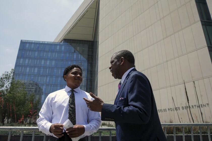 Jamal Shakir and his attorney, Carl Douglas