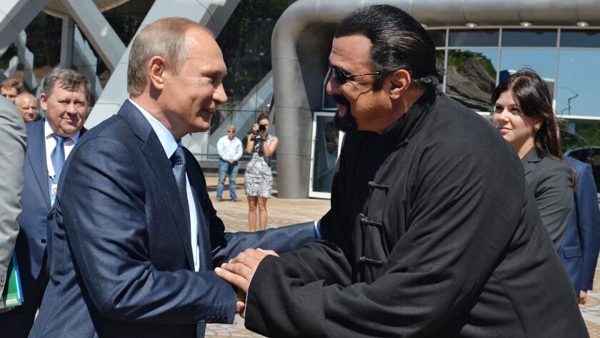 Russian President Vladimir Putin granted citizenship to Steven Seagal