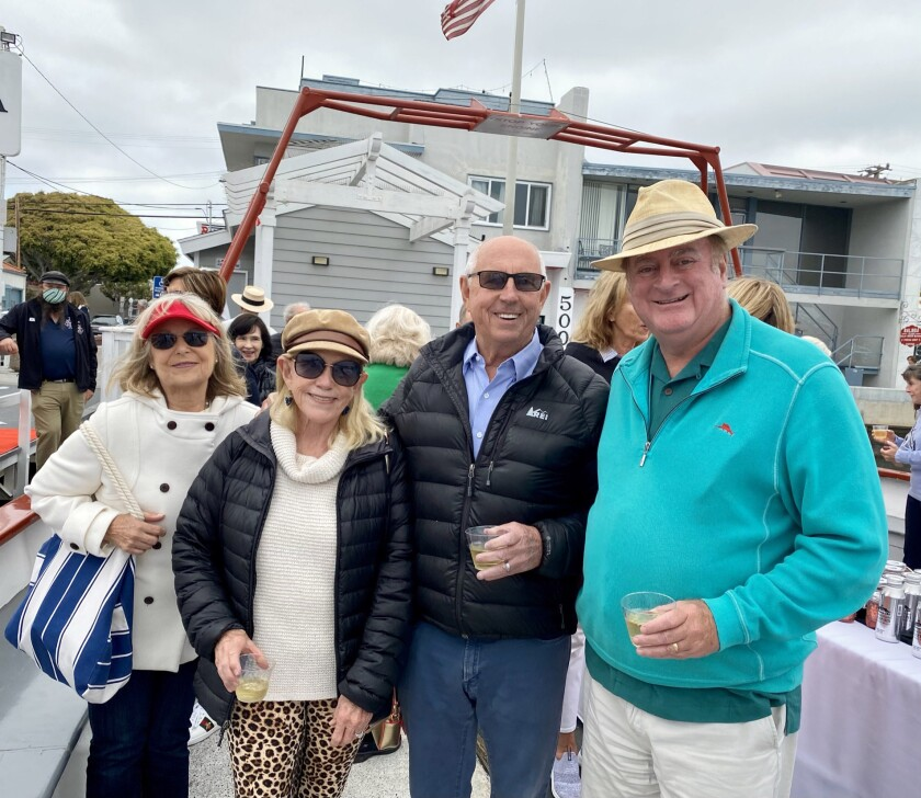 Karen Johnston, Janet Ray, Walkie Ray and Keith Curry ferry ride around Newport Harbor.
