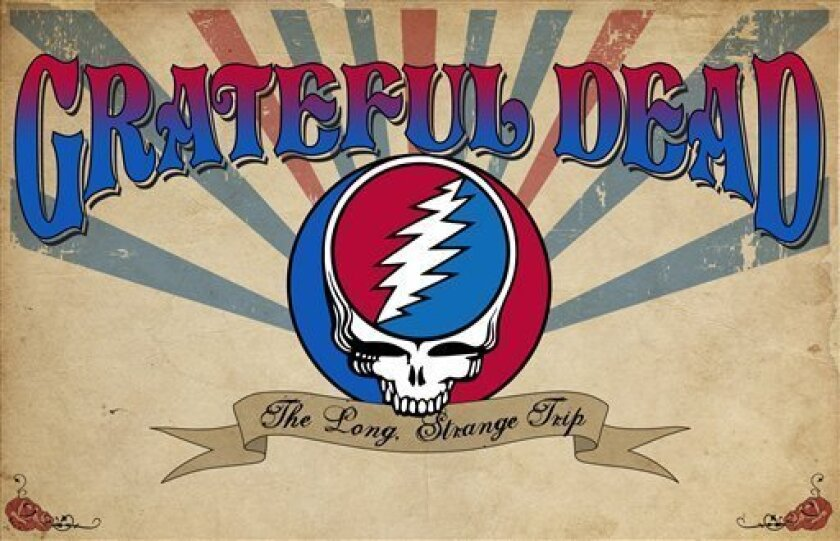 """This Jan. 18, 2012 photo provided by the Rock and Roll Hall of Fame and Museum shows the banner for an exhibit on the Grateful Dead at the Cleveland museum, """"Grateful Dead: The Long, Strange Trip."""" (AP Photo/Rock and Roll Hall of Fame and Museum)"""