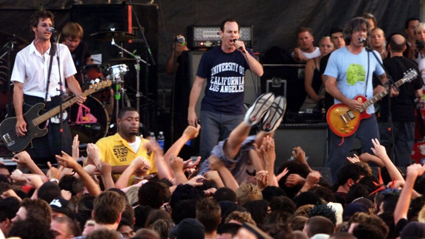 049678.CA.0710.WARPED.2.LKH. The Vans Warped tour at the Sports Arena. Pic. shows Bad Religion on st