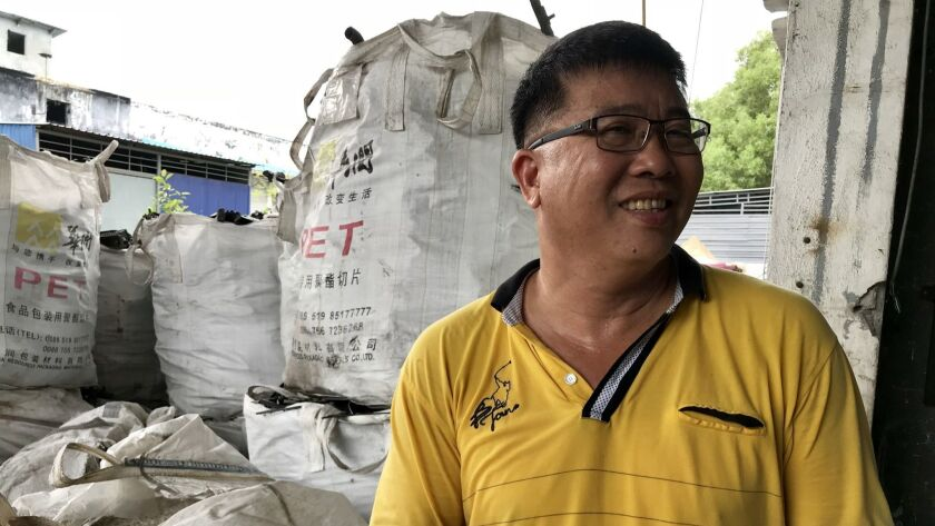 """""""Rubbish is money,"""" says Vincent Cheong, a recycler in Port Klang, Malaysia."""
