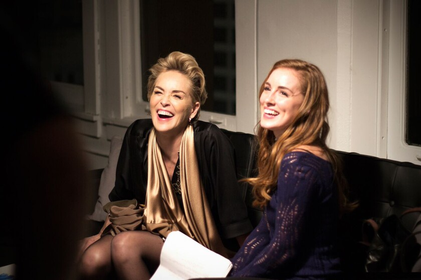 """Sharon Stone, left, and Alexandra Daniels in """"Mothers and Daughters."""""""