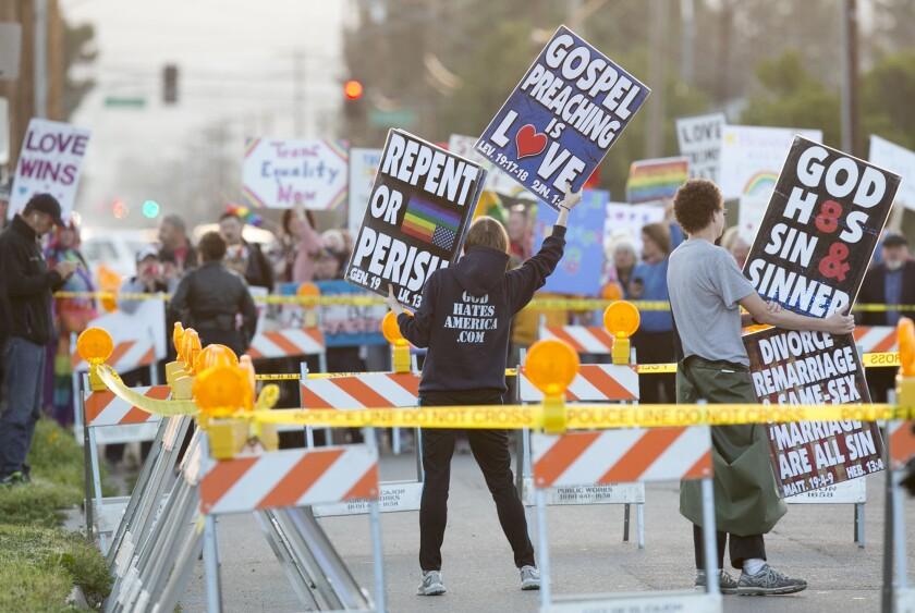 Anti Westboro Baptist protests