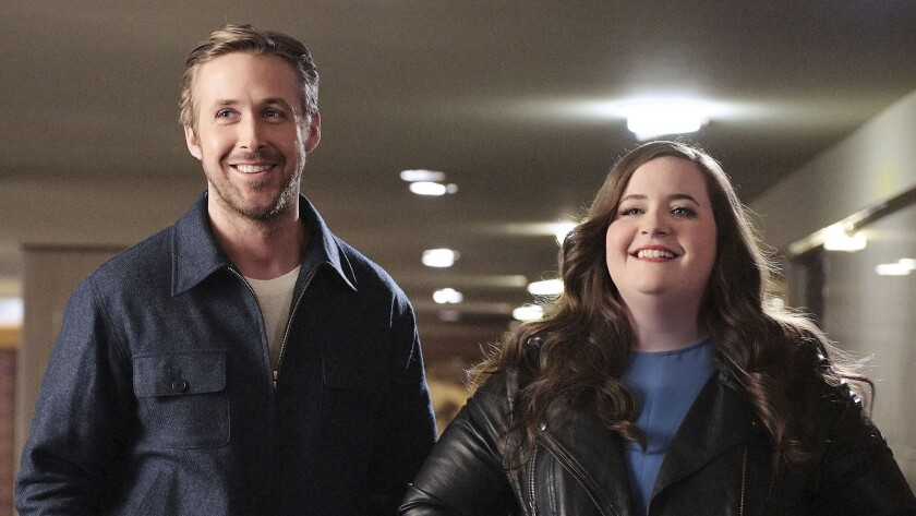 """Ryan Gosling and Aidy Bryant in """"Saturday Night Live"""" on NBC."""