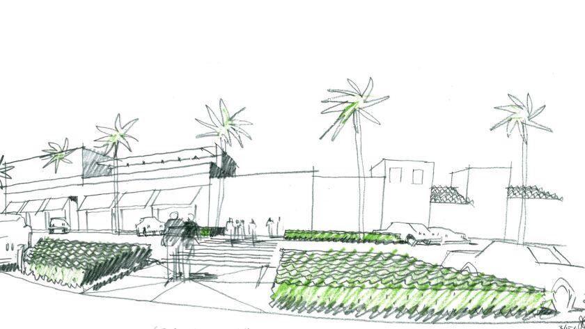 Girard Avenue landscape rendering
