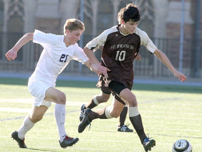St. Francis soccer edged by rival Loyola