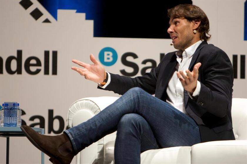 El tenista Rafa Nadal protagoniza un encuentro en Vigo dentro de la iniciativa 'Diálogos de futuro' de Banco Sabadell. EFE/Archivo