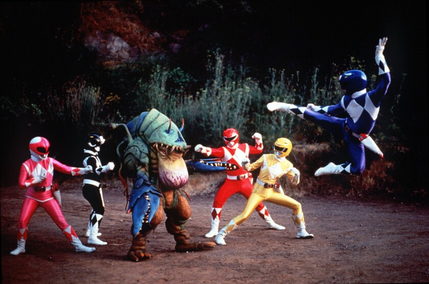 """A scene from the """"Mighty Morphin Power Rangers"""" TV series."""