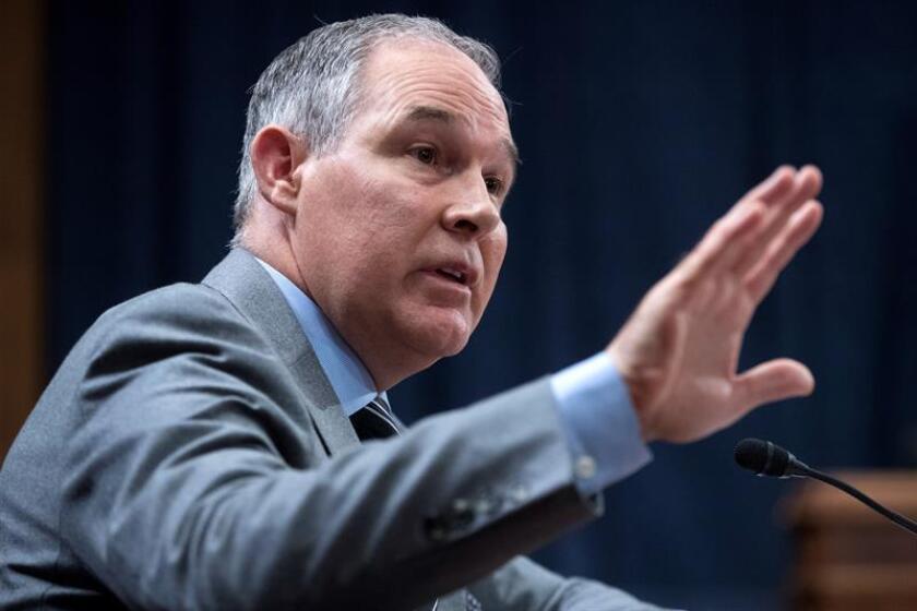 El director de la Agencia de Protección Medioambiental (EPA), Scott Pruitt. EFE/Archivo