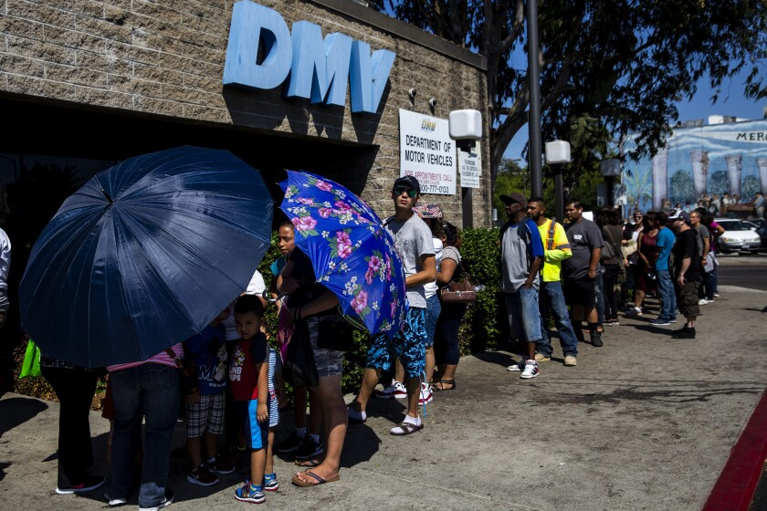 Lines have sometimes been long at California Department of Motor Vehicles locations, in part because of the push for Real ID, but a one-year postponement of Real ID's implementation may ease the strain.