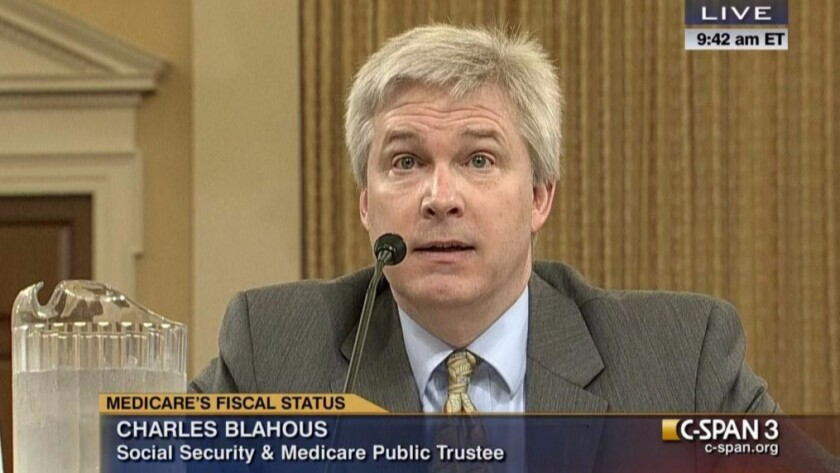 Former (and future?) Social Security public trustee Charles Blahous