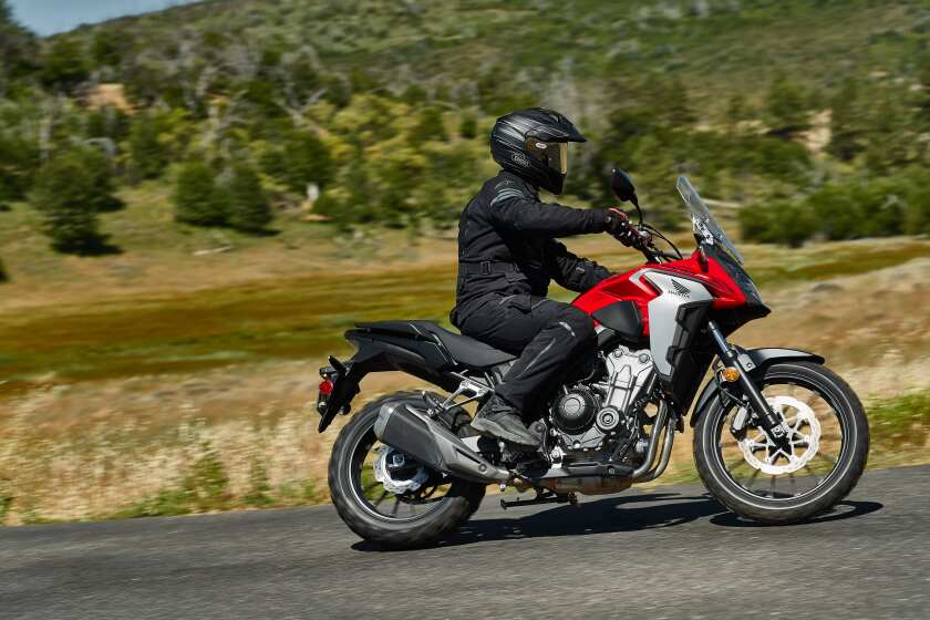 A change of tires will give the Honda CB500X an advantage when transitioning from pavement to off-road.