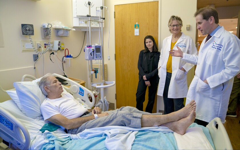 Dr. Darren Sigal from Scripps Green Hospital spoke with his patient, Jim Toillion, 70.
