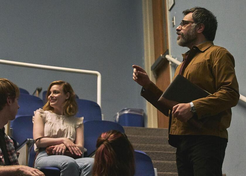 "Gillian Jacobs and Jemaine Clement in ""I Used to Go Here."""