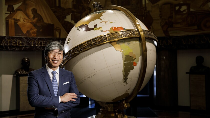 LOS ANGELES, CALIF. -- FRIDAY, APRIL 13, 2018: Patrick Soon-Shiong, the new owner of the Los Angeles