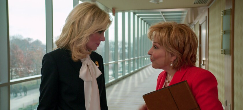 """Judith Light and Bette Midler in a scene from the season finale of Netflix's """"The Politician."""""""