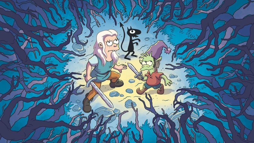 """""""Disenchantment"""" on Netflix is a new animated fantasy-comedy series from Matt Groening, creator of """"The Simpsons"""" and """"Futurama."""""""