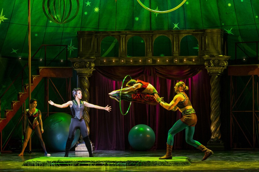 """Sasha Allen, second from left, is the Leading Player of a troupe in """"Pippin,"""" now at Hollywood Pantages."""