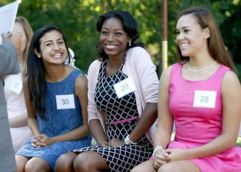 Young women try out for Tournament of Roses