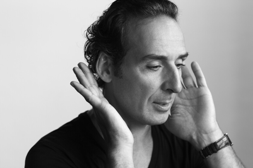 "Composer Alexandre Desplat. This month he premieres his first opera, ""Silence,"" about a writer who no longer can communicate after a stroke."