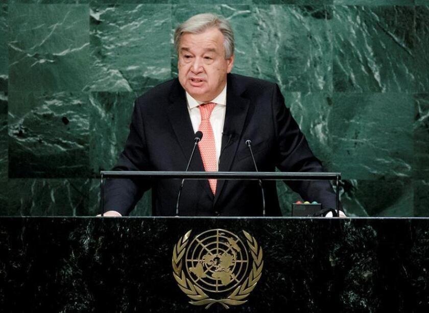 El secretario general de la ONU, António Guterres, anunció hoy nuevas medidas para proteger a empleados que informen de irregularidades en el seno de la organización y que cooperen en investigaciones. EFE/ARCHIVO
