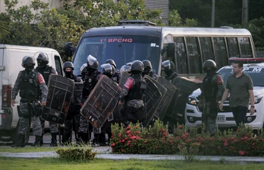 Brazilian riot police