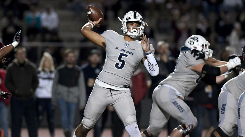 St. John Bosco High quarterback DJ Uiagalelei's blend of arm strength, accuracy and intangibles translate into a potential No. 1 prospect for the 2020 recruiting class.