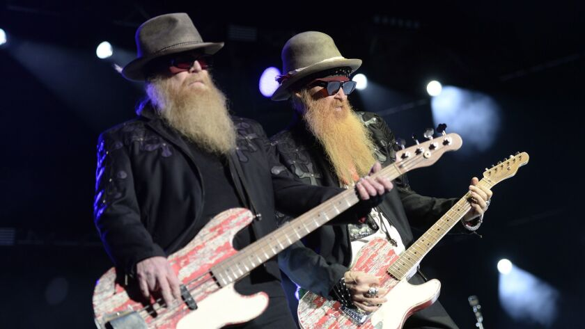 In this Thursday July 9, 2015 picture musicians Dusty Hill, left, and Billy Gibbons, right, of US ro