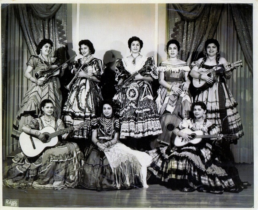 Mariachi Las Adelitas, shown in the 1950s in Mexico city, helped pave the way for women in Mariachi music. Their pioneering role, and that of other all-women Mariachi groups, is showcased in a groundbreaking new exhibit at the Women's Museum of California at Liberty Station in Point Loma. Photo co