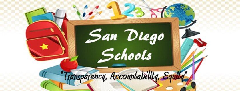 The logo for the San Diego Schools organization.