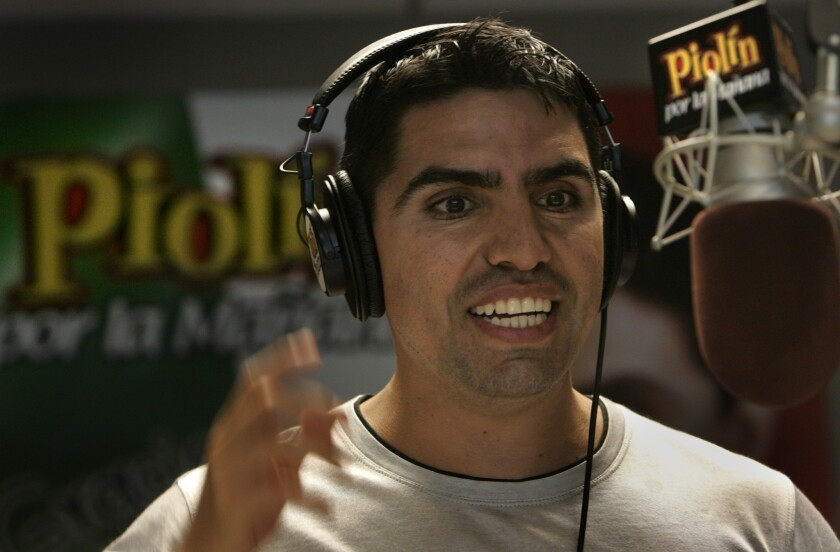 "A file photo of DJ Eddie ""Piolin"" Sotelo."
