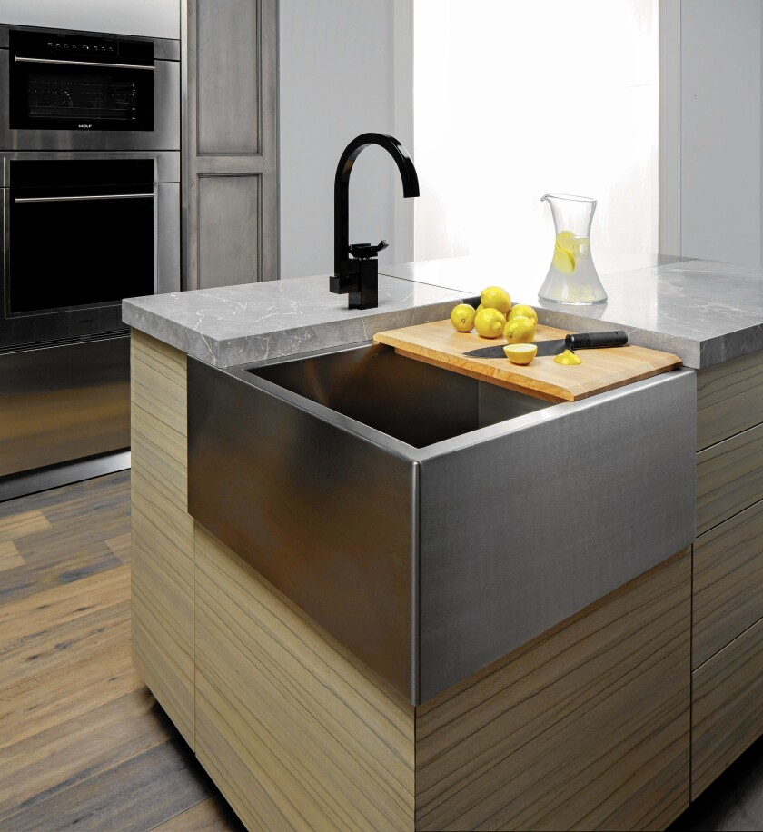 You Ve Never Seen A Kitchen Island Sink Like This Los Angeles Times