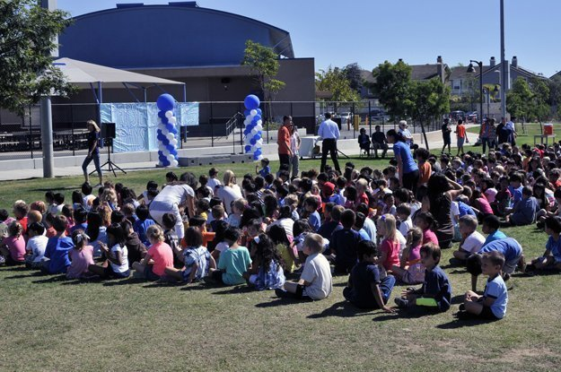 Students assembled