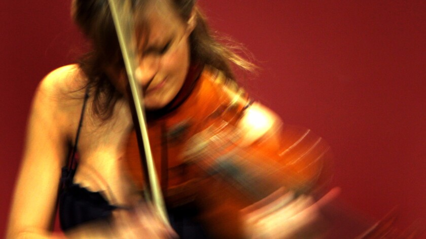 Nicola Benedetti, who was soloist at the Holywood Bowl on Tuesday night, in her L.A. debut at Pepperdine University in 2008.