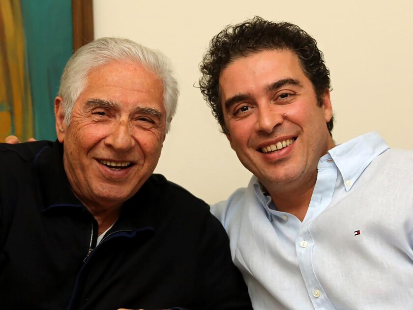 Babak Namazi and his father, Baquer Namazi, who has been detained in Iran nearly four years.