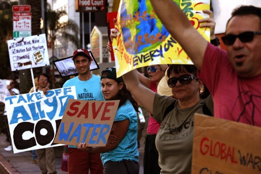 Climate change protest in L.A.