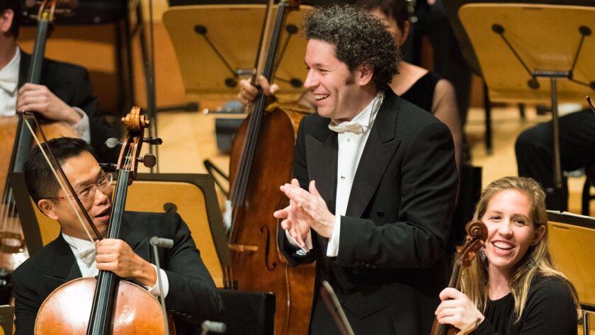 Los Angeles Philharmonic Music Director Gustavo Dudamel in Disney Hall last month.