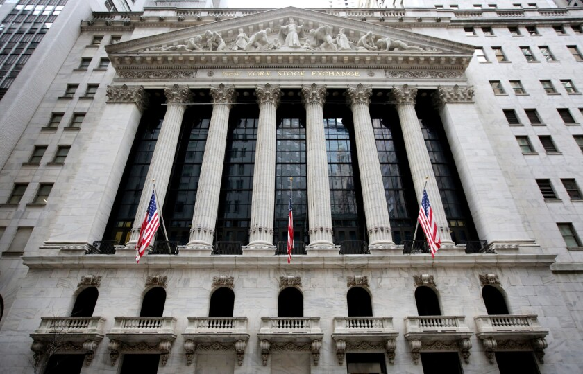 The New York Stock Exchange in New York City on Jan. 15.