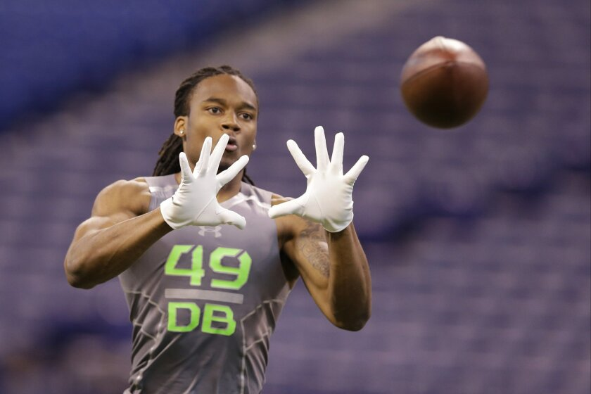 The Chargers would likely take Ohio State cornerback Bradley Roby if he's around at No. 25.