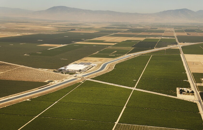 California Aqueduct in the San Joaquin Valley