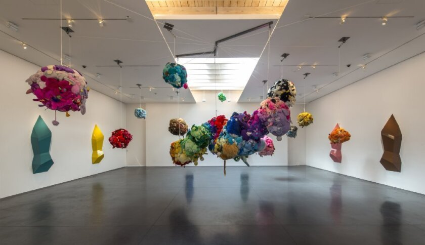 """Mike Kelley's """"Deodorized Central Mass With Satellites,"""" 1991-99, mixed media, shown at Perry Rubenstein Gallery in November 2012."""